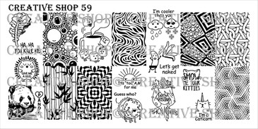 Creative Shop Stamping Plate 59.  Available at www.lanternandwren.com.