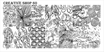 Creative Shop Stamping Plate 60.  Available at www.lanternandwren.com.