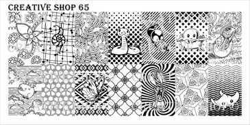 Creative Shop Stamping Plate 65.  Available at www.lanternandwren.com.