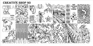 Creative Shop Stamping Plate 90.  Available at www.lanternandwren.com.
