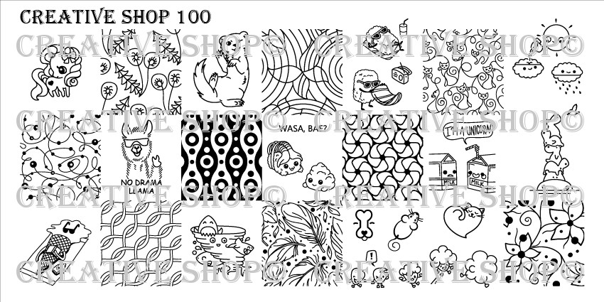 Creative Shop Stamping Plate 100.  Available at www.lanternandwren.com.