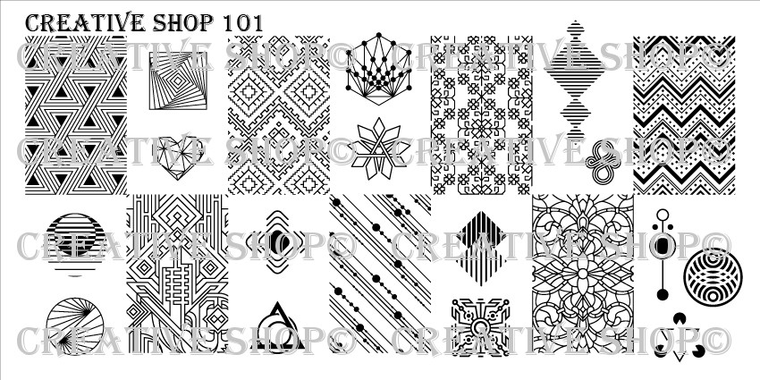 Creative Shop Stamping Plate 101.  Available at www.lanternandwren.com.