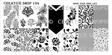 Creative Shop Stamping Plate 104.  Available at www.lanternandwren.com.