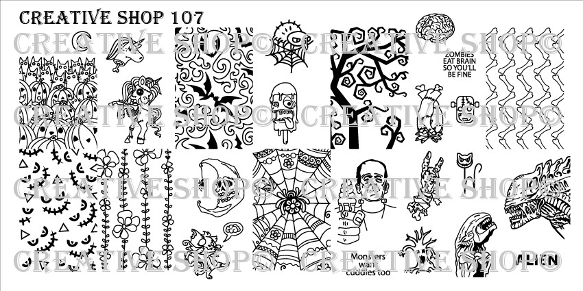 Creative Shop Stamping Plate 107.  Available at www.lanternandwren.com.