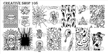 Creative Shop Stamping Plate 108.  Available at www.lanternandwren.com.
