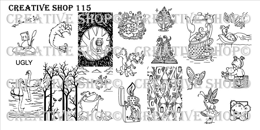Creative Shop Stamping Plate 115.  Available at www.lanternandwren.com.