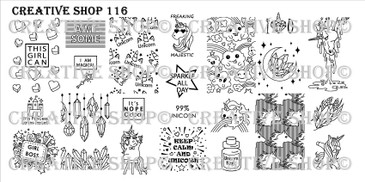 Creative Shop Stamping Plate 116.  Available at www.lanternandwren.com.