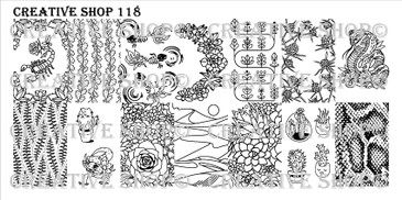 Creative Shop Stamping Plate 118.  Available at www.lanternandwren.com.