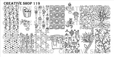 Creative Shop Stamping Plate 119.  Available at www.lanternandwren.com.