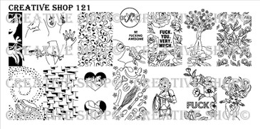 Creative Shop Stamping Plate 121.  Available at www.lanternandwren.com.