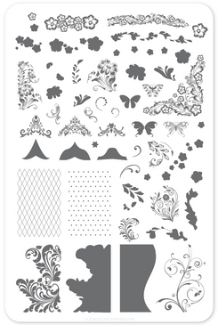 nail stamping plate by Clear Jelly Stamper, available at www.lanternandwren.com.
