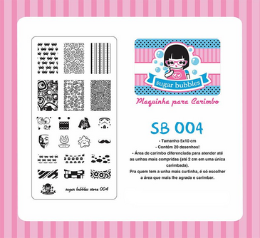 Sugar Bubbles SB004 nail stamping plate. Free USA shipping available. Available at www.lanternandwren.com.