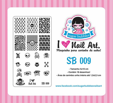 Sugar Bubbles SB09 nail stamping plate.  Available at www.lanternandwren.com.