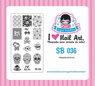 Sugar Bubbles SB036 nail stamping plate, available in the USA at www.lanternandwren.com.