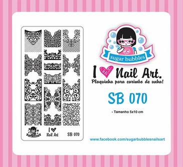 Sugar Bubbles SB070 nail stamping plate. Available at www.lanternandwren.com.