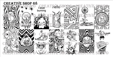 Creative Shop Stamping Plate 68.  Available at www.lanternandwren.com.