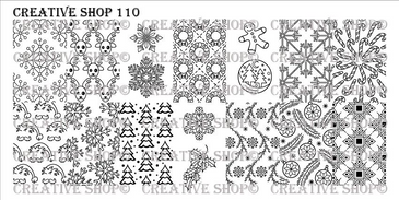 Creative Shop Stamping Plate 110.  Available at www.lanternandwren.com.