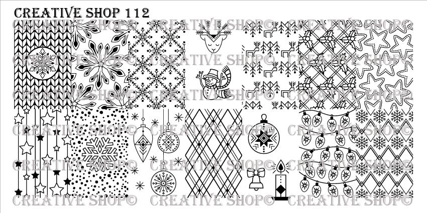 Creative Shop Stamping Plate 112.  Available at www.lanternandwren.com.