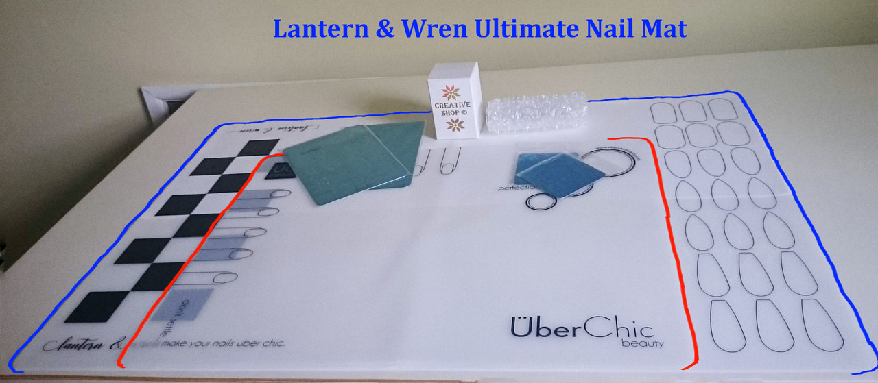 The Ultimate Nail Art Mat, available ONLY through Lantern & Wren. www.lanternandwren.com.