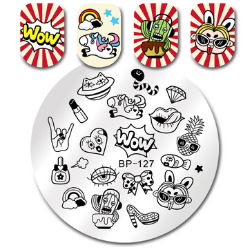 Born Pretty BP127 nail stamping plate. Get yours without the wait, already in the USA at www.lanternandwren.com.