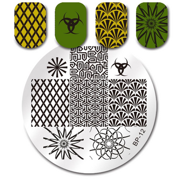 Born Pretty BP12 nail stamping plate. Get yours without the wait, already in the USA at www.lanternandwren.com.