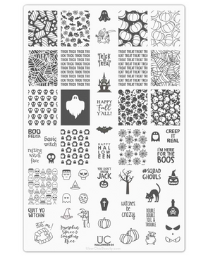 Uber Chic Halloween 04 stamping plate. Available at www.lanternandwren.com.