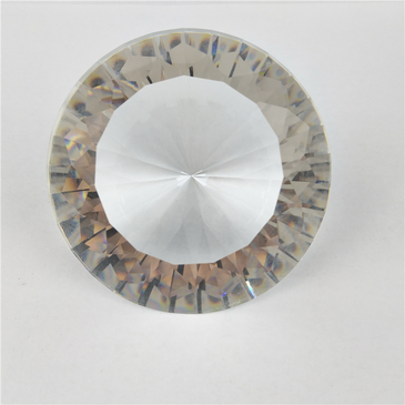 Clear glass diamond mani prop. Available in the USA at www.lanternandwren.com.