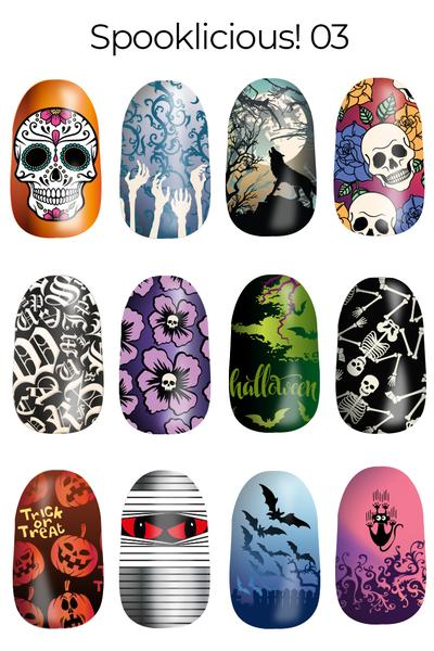 Lina Spooklicious! 03 nail stamping plate, available at www.lanternandwren.com.