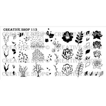 Creative Shop Stamping Plate 113. Available at www.lanternandwren.com.