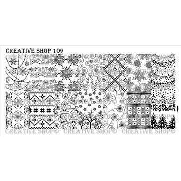 Creative Shop Stamping Plate 109. Available at www.lanternandwren.com.