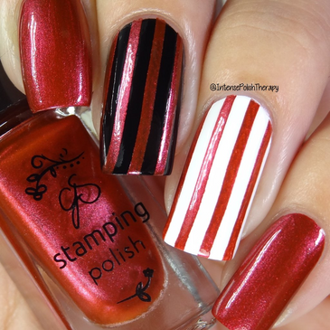 Clear Jelly Stamper stamping polish #33 Crimson Crush, available at www.lanternandwren.com.