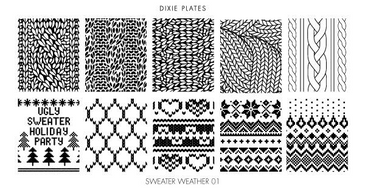 Dixie Plates Sweater Weather mini stamping plate. Available in the USA at www.lanternandwren.com.