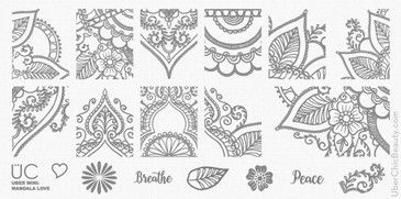 Mandala Love - Uber Mini Nail Stamp Plate