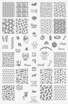 Furry Best Friends - UberChic Nail Stamping Plate