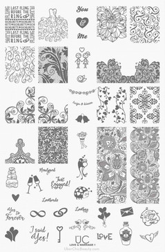 Love and Marriage-01 - UberChic Beauty Nail Stamping Plate