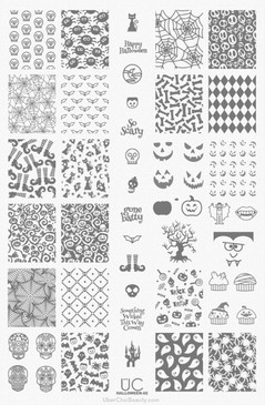 Uber Chic Halloween stamping plate #2 for nail art