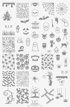 Uber Chic Halloween nail stamping plate for nail art