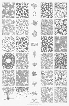 Lovely Leaves - UberChic Nail Stamping Plate