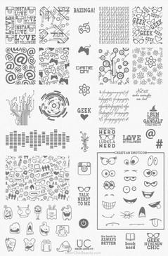 Geek Love 01 - UberChic Nail Stamping Plate