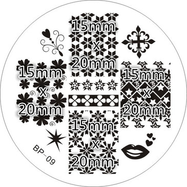 Born Pretty BP09 - Patterns Nail Art Stamping Plate