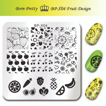Born Pretty BP-X04 Stamping Plate - Fruit Design Nail Stamping Plate