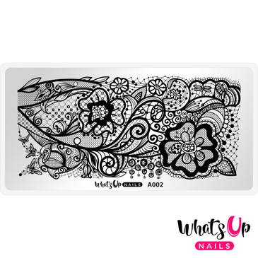 Whats Up Nails - A002 Classy and Sassy - Mini Nail Stamping Plate