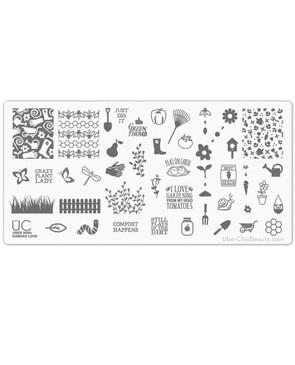 Uber Chic Garden Love nail stamp plate, on www.lanternandwren.com