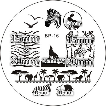 Born Pretty BP16 nail stamping plate. Get yours without the wait, already in the USA at www.lanternandwren.com.