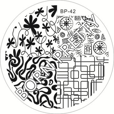 Born Pretty BP42 nail stamping plate. Get yours without the wait, already in the USA at www.lanternandwren.com.