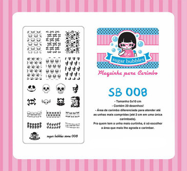 Sugar Bubbles SB008 nail stamping plate.  Available at www.lanternandwren.com.