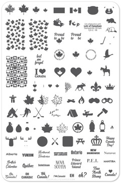 Clear Jelly Stamper True North Strong nail stamping plate, available in the USA at www.lanternandwren.com.