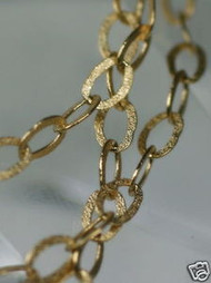 """16/"""" RARE Solid 14K Gold BLACK RHODI0M Cable Link Chain 1.25g ITALIAN GORGEOUS"""