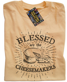 Blessed Are The Cheesemakers (Yellow) T Shirt