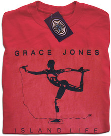 Island Life Grace Jones (Red) T Shirt
